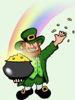 Regis O'Brasher makes his leprechaun home at Riverside Campground, where he enjoys Seaway Valley camping along the St. Regis River in northern New York.